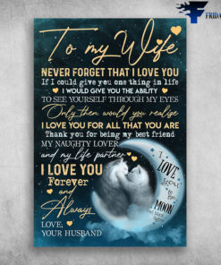 To My Wife Never Forget That I Love You Couple Cat