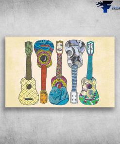 Ukulele Drawing Decorative Ukulele Instrument