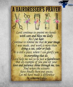 A Hairdresser's Prayer Professional Hairdresser Tools
