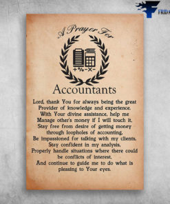 A Prayer For Accountants Lord Thank You For Always Being The Great Provider