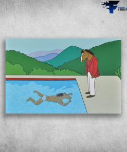Bojack Horseman David Hockney He Watches He's Swimming