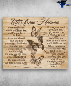 Butterfly Letter From Heaven I Know How Much You Love Me