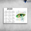 New Calendar 2020 Beautiful Green Eye