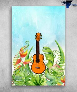 Ukulele Musical Instrument Ukulele Plant Background