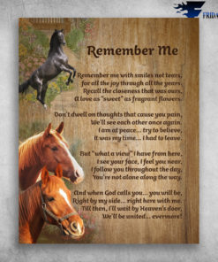 Beautiful Horse Remember Me With Smiles Not Tears We'll Be United Evermore