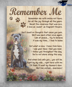 Boxer Dog Remember Me With Smiles Not Tears We'll Be United Evermore