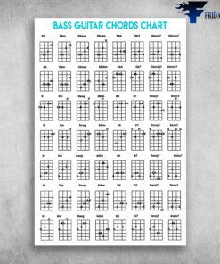 Bass Guitar Chords Chart Guitar Musical Instrument
