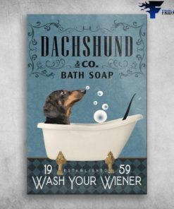 Dachshund In Bath Tub Bathroom Established Wash Your Wiener