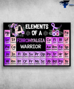 Elements Of A Fibromyalgia Warrior Hope Love Strength Peace Care Journey