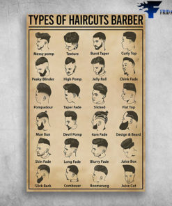 Types Of Haircuts Barber Messy Pomp Texture Burst Taper Curly Top