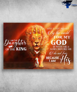 Beautiful Lion Wear Crown I Am The Daughter Of The King