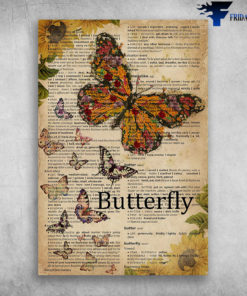 Butterfly Words Meaning Colorful Butterfly Beautiful Butterfly