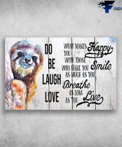 Cute Colorful Sloth Painting Love As Long As You Live