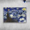 Starry Night With Pitbull Van Gogh