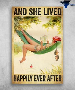 And She Lived Happily Ever After - Girl And Book