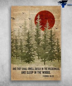 And They Shall Dwell Safely In The Wilderness, And Sleep In The Woods Ezekiel 3425