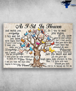 As I Sit In Heaven And Watch You Everyday - Tree Butterfly And Jesus