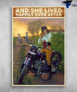 And She Lived Happily Ever After - Girl Biker Classic