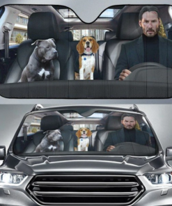 John Wick And Pitbull And Beagle Dog