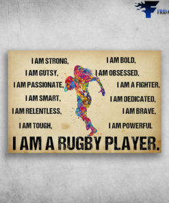 I Am A Rugby Player watercolor