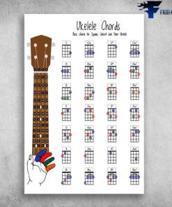Ukulele Chords Basic Chords For Soprano, Concert And Tenor