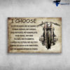 Classic Motorbike - I Choose to Live By Choice, Not By Chance