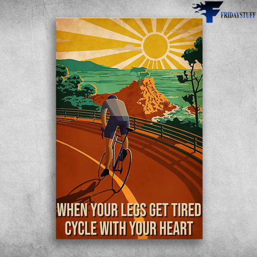 Man Riding Bicycle When Sunset - When Your Legs Get Tired