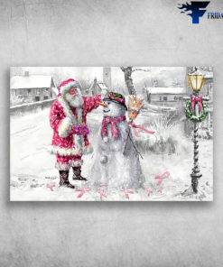 All I Wish For Christmas Is A Cure - Santa Claus And Snowman