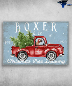 Boxer In Truck - Boxer & Co Est 1972, Christmas Free Delivery