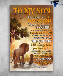 Lion And Son - To My Son, Never Forget That I Love You, I Hope You Believe In Yourself