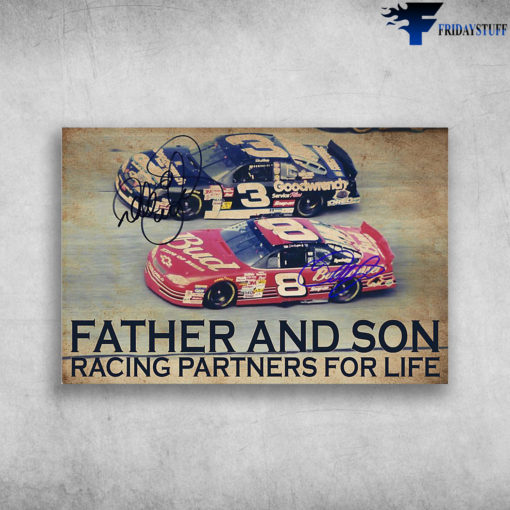 Racing Car - Father And Son, Racing Partners For Life