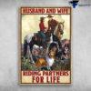 Husband And Wife - Riding Partners For Life, Shetland Sheepdog