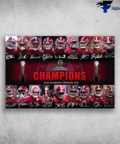 National Championship - Champions 2020 Alabama Crimson Tide, Rugby Champions