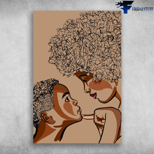 Portrait of Black Mother And Son