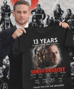 13 years 2008 - 2021 Sons of Anarchy thank you for the memories