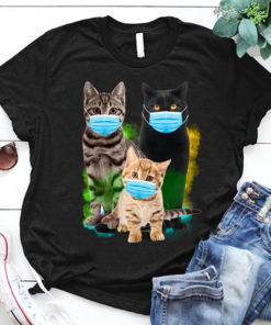 3 cat with masks - little kitty - black cat