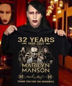 32 years 1989 - 2021 Marilyn Manson Thank you for the memories