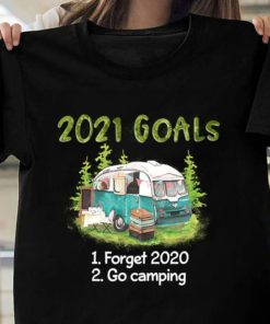 2021 goals forget 2020 and go camping - Camping bus in forest