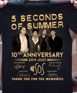5 seconds of summer 10th anniversary 2011 - 2021 Thank you for the memories