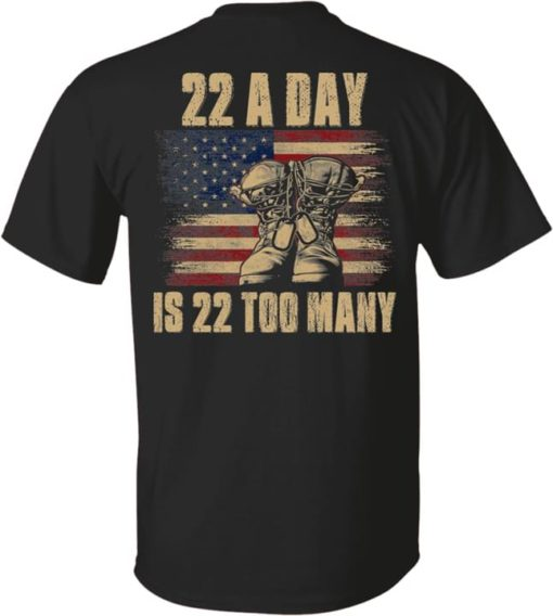 22 a day is 22 too many - Veteran shoes, American veteran