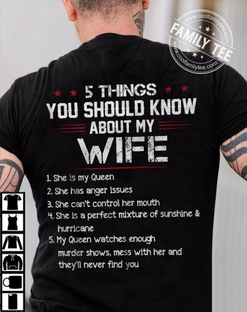 5 things you should know about my wife - My queen, anger issues, can't control her mouth