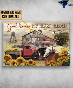 Barn and Blue Truck, God Knew My Heart Needed You, Horse, Sunflower