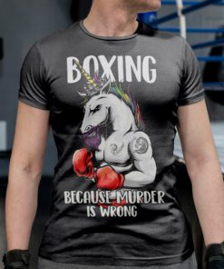 Boxing because murder is wrong - Unicorn boxing