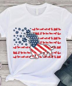 Dachshund dog - America flag, dog lover, dog footprint