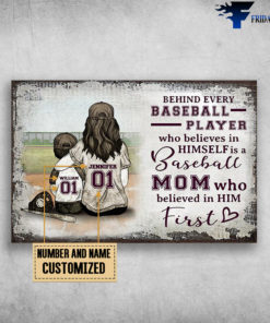 Mom And Son, Baseball, Behind Every Baseball Player, Wgo Believes In Himself Is A Baseball, Mom Who Believed In Him First