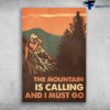 Mountain Biker - The Moutain Is Calling And I Must Go, Man Cycling, Moutain Bike