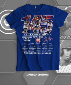 145 years of Chicago cubs baseball team 1876 - 2021