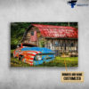 Amerian Family, American Truck, Land Of The Free, Home Of The Brave, American Farmhouse