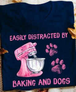 Easily distracted by baking and dogs - Dog footprint, baking lover