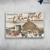 Farmhouse Winter - Grateful, Thankful, And Blessed, Chicken, Farm Truck